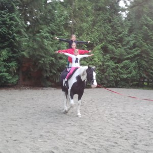 three girls on horse s